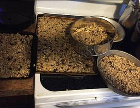 Cooking granola